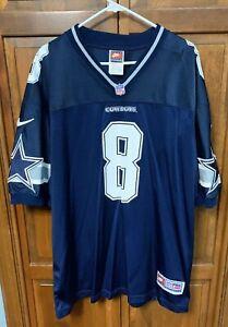 Nike Dallas Cowboys Troy Aikman # 8 Jersey Men Large L Extra Large XL Blue
