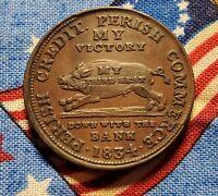 1834 AU/BU Hard Times Andrew Jackson Running Boar Gorgeous Famous Rare Token
