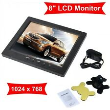 8 Inch TFT LCD Screen Monitor HD 1024*768 VGA BNC Input Video Audio DC12V Input
