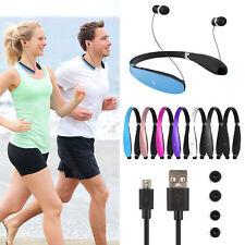 Foldable Retractable Headset Headphone Wireless Sport Neckband Earbuds Us Ship