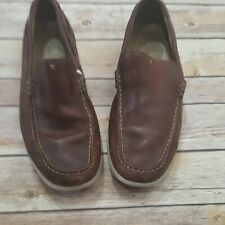 Clark's Men's Dark Brown Leather Slip On Comfort Loafers Size 9M