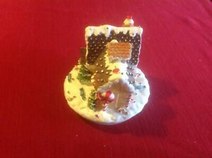 CHRISTMAS DECORATED HOUSE CANDLE TOPPER