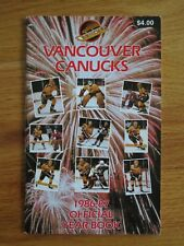 1986-87 VANCOUVER CANUCKS Yearbook BARRY PEDERSON Peter Skriko STAN SMYL