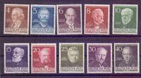 Berlin 1952 - Berühmte Männer MiNr. 91/100 postfrisch** - Michel 130,00 € (211)