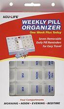 Acu-life 7 Días semanal pastillero con individual removibles compartimentos