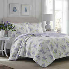 Laura Ashley Keighley Twin Quilt Set in Lilac