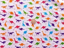 Multicoloured Dinosaur Polycotton fabric/Material - 1 full metre