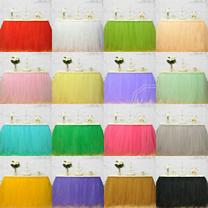 Tulle Table Skirt Tutu Skirting Wedding Birthday Party Decoration 1M x 80cm