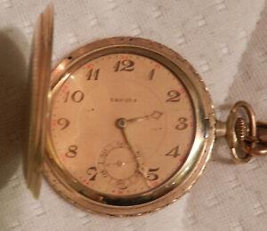 Drusus Taschenuhr mit Sprungdeckel Walzgold 1930 Jahre