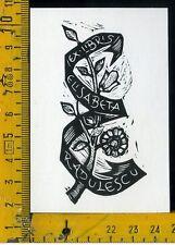 Ex Libris Originale Alexandro Radulescu c 085