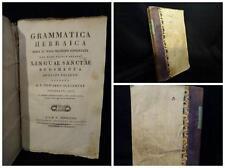Grammatica Hebraica Brevi et Nova Methodo Concinnata -  Edward Slaughter 1823