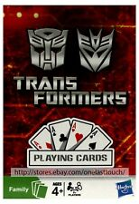 HASBRO (1) Deck TRANSFORMERS PLAYING CARDS Great For Kids FAMILY GAMES Ages 4+