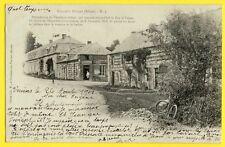 cpa Rare Cachet VERVINS 02 - LA BOUTEILLE en 1902  (Aisne) Hameau de FOIGNY vélo