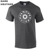 581 Zodiac Cross Mens T-Shirt religion mystic astrology constellations horoscope