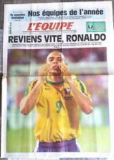 L'Equipe Journal 24/12/1998; Reviens vite, Ronaldo/ Nos équipes de l'année