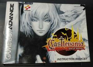 Castlevania Aria of Sorrow MANUAL ONLY Authentic