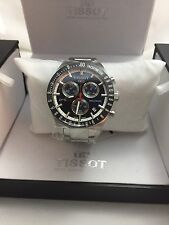 Tissot Men's T0444172104100 PRS516 Stainless Steel Blue Dial Chronograph Watch