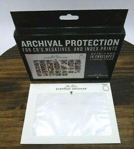 Archival Protection for CD's Negatives Index Prints ACID-FREE 10 5X7 Envelopes