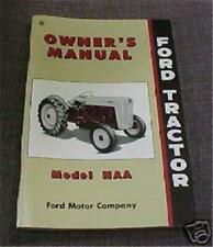Ford Naa Jubilee Tractor Owners Operators Manual Book
