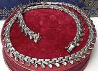 Sehr schönes Gliedercollier 60er Jahre - 835 Silber, punziert 44 cm / 8mm  A 936