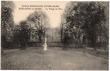 CPA 92 - BOULOGNE (Hauts de Seine) - Ecole Diocésaine Notre-Dame. Vierge du Parc