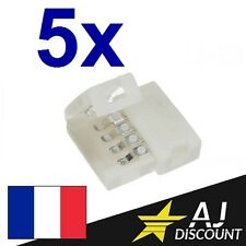 5x Connecteur Droit pour Ruban / Bande LED - RGB 5050 strip 4 broches 4pin
