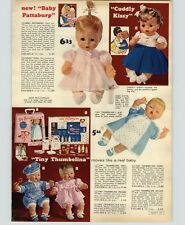 1964 PAPER AD Doll Thumbelina Pattaburp Cuddly Kissy Mattel Chatty Pebbles Bam