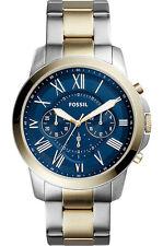 Fossil Herren FS5273 Grant Ziffernblatt Blau herren Chronograph Uhr