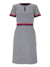 'BODEN' NAVY & IVORY DRESS WITH RED & NAVY PIPING, SIZE 12, RRP £150, BNWT