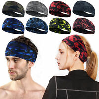 Women Men Stretch Headband Sport Sweat Sweatband Yoga Gym Hair Head-Band/