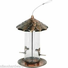 "Stokes Select 8"" D X 12.8"" H Copper Acorn Hanging Bird Food Seed Feeder 38288"