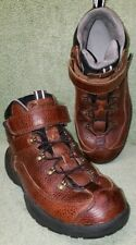 Dr. COMFORT RANGER LEATHER HIKING WORK BOOTS MEN'S 8W Color  Brown Diabetic 9420