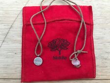 ME & RO rare limited edition PEACE/SHANTI Sterling Silver charm on waxed cord