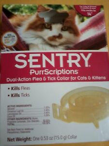 Sentry Dual Action Flea & Tick Collar Purrscriptions #01989  NEW