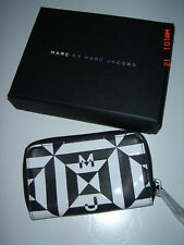 MARC JACOBS BLACK/ WHITE RUBIX COIN PURSE WALLET  -- 100% AUTHENTIC  -- NWT !