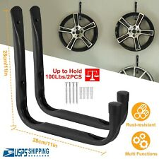 100lbs Heavy Duty Garage Storage Hooks Wall Mounted Utility for Bike Ladders US