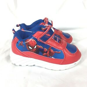Marvel Spiderman Shoes Toddler Size 6 Sneakers Red Blue