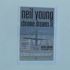 Publicité presse magazine rock 2000 NEIL YOUNG Chrome dreams II Album  10X12