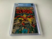DEMON 1 CGC 8.0 WHITE PAGES ORIGIN AND 1ST APPEARANCE DEMON DC COMICS 1972