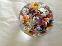 VINTAGE CHARLES DEGENHART MULTICOLOR CRYSTAL PAPERWEIGHT-1920's