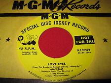 NOS NM RARE OLDIES 45 - ALAN DALE - LOVE EYES - MGM 12742 PROMO