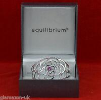 Equilibrium Bangle Bracelet Hinged Rose Pink Sparkle Diamante New Gift Boxed UK