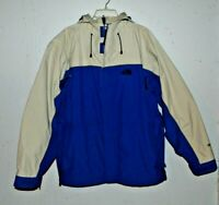Men's The North Face HyVent Blue/Beige Zip-Up Hooded Soft Shell Jacket Large
