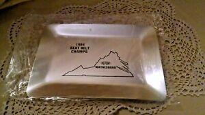 DUPONT TRAY 1984 SEAT BELT CHAMPS WAYNESBORO VIRGINIA NEW SEALED ALUMINUM DISH.
