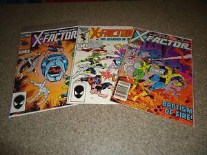 X-FACTOR 1, 5, AND 6 HIGH GRADE APOCALYPSE