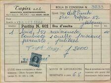 142446 VECCHIO DOCUMENTO TAPIES SRL INDUSTRIA ELETTRODOMESTICI MILANO 1966