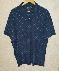 POLO RALPH LAUREN  Short Sleeve DIAMOND PRINT Polo Shirt Men's Sz XXL / 2XL