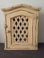 MEUBLE MURAL - ETAGERE_ BIBLIOTHEQUE   BOIS PATINE  style  indien