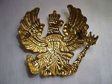 German Pickelhaube Brass Prussia helmet Badge Prussian full brass