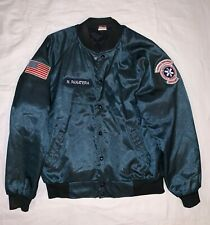 Vintage Union Line Bomber Jacket w/ Patches Quilted lining Punk Rock S